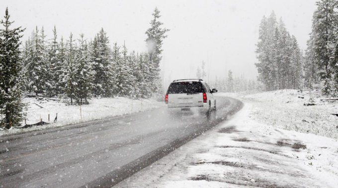 Vehicle driving during winter weather
